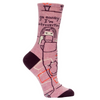 Blue Q Socks – Women's Crew – Go Away, I'm Introverting