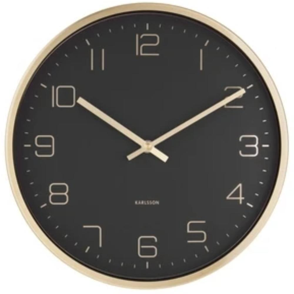 Karlsson Wall Clock Gold Elegance - Black