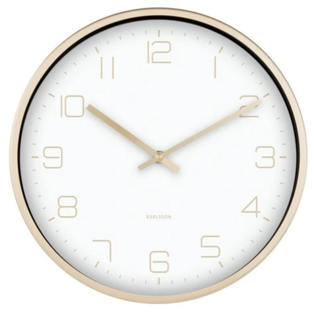 Karlsson Wall Clock Gold Elegance - White