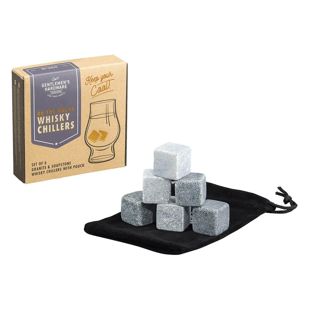 Granite & Soapstone Whiskey Chillers with Pouch