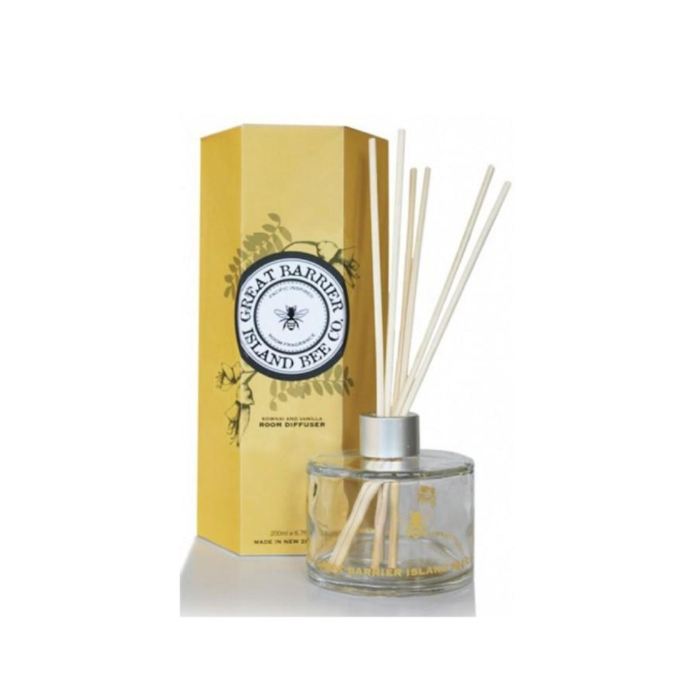 Great Barrier Island Bee Co Diffuser - Kōwhai & Vanilla