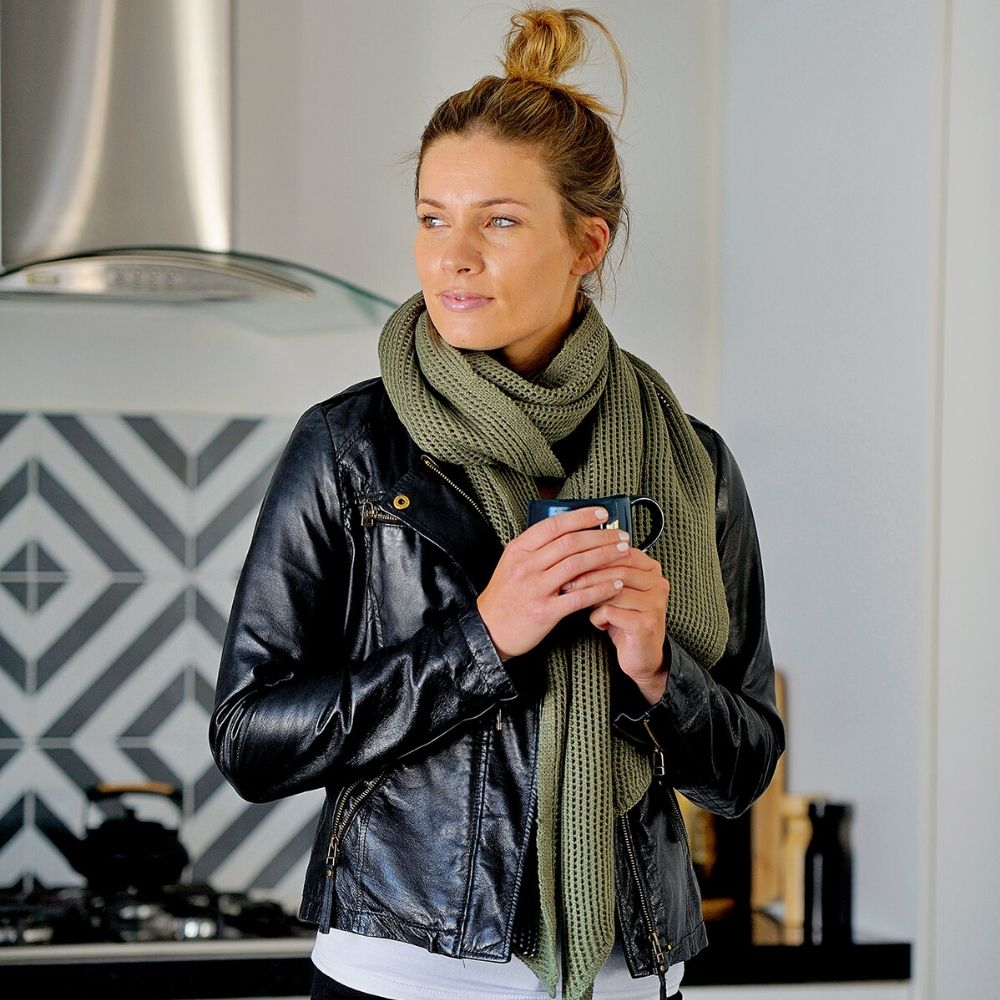 Hello Friday Stylist Scarf- Olive