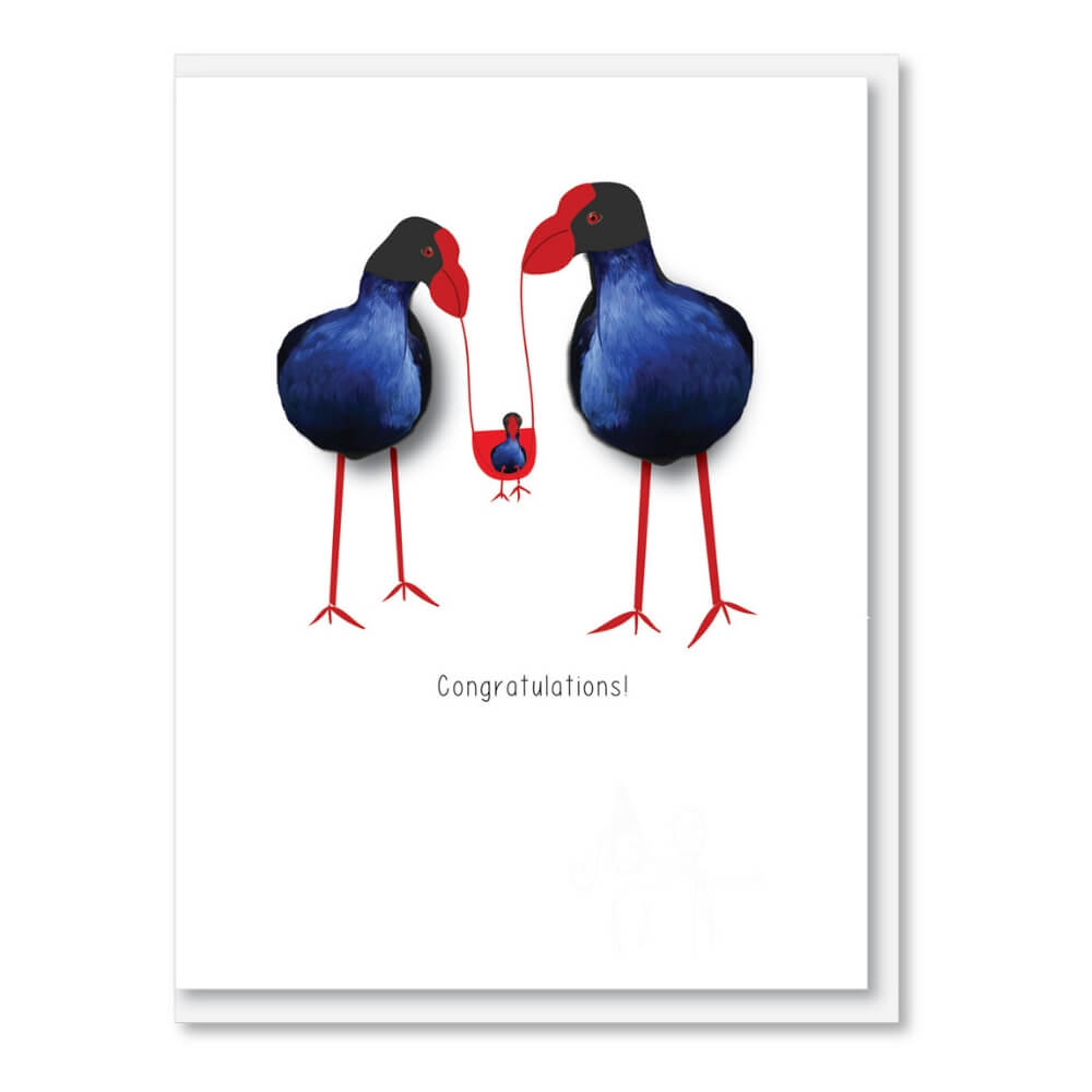 NZ MADE GREETING CARD - New Addition
