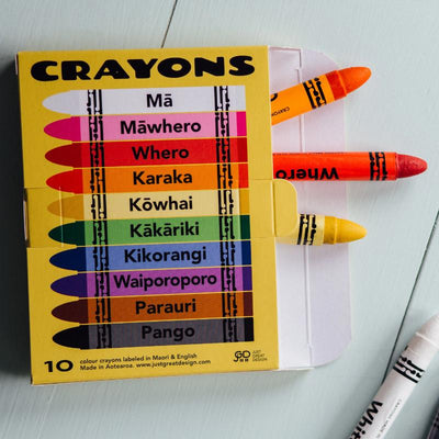 CRAYONS - COLOURS IN MAORI & ENGLISH