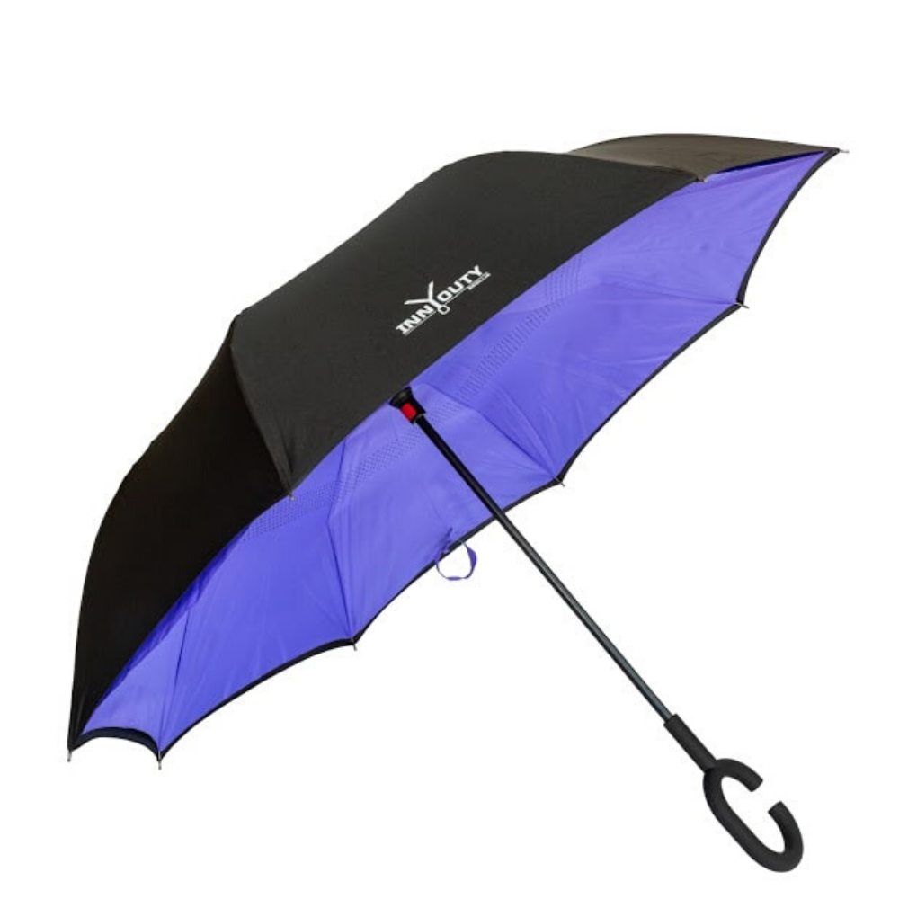 Inny Outy Swiss designed double layer Umbrella from Funky Gifts NZ Purple Colour