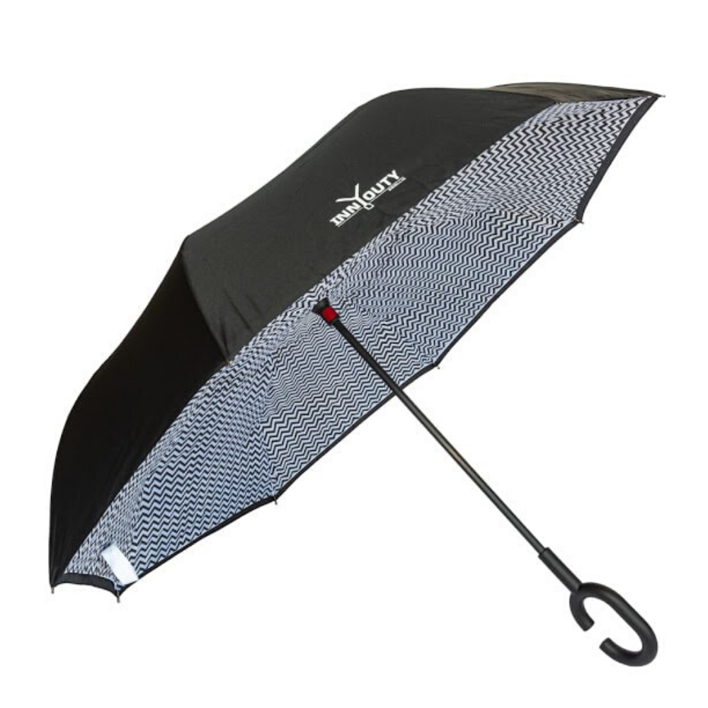 Inny Outy Swiss designed double layer Umbrella from Funky Gifts NZ Zig Zag Colour