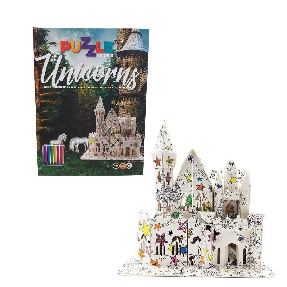 Interactive Colouring 3D Puzzle Unicorns From Funky Gifts NZ