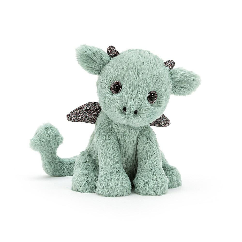 jelly Cat Soft Toy Starry-eyed Dragon with coarse glitter from Funky Gifts NZ
