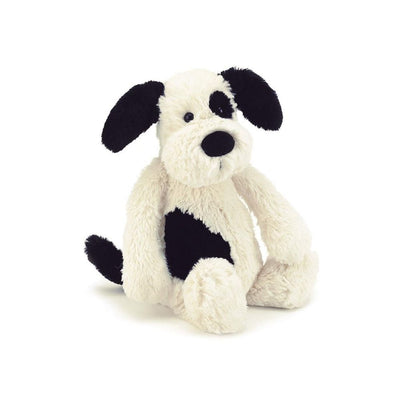 Bashful Puppy Black and Cream from funky gifts nz