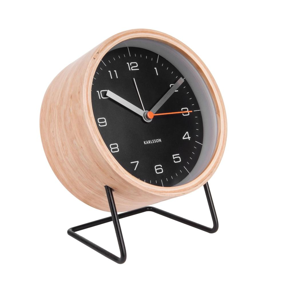 Karlsson Innate Alarm Clock Black