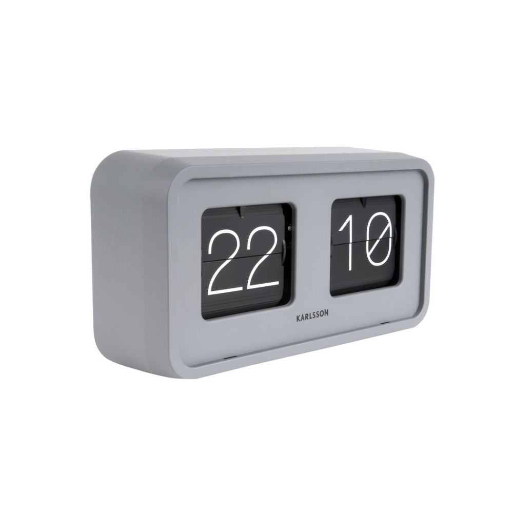 Karlsson Boxed Flip Clock BOLD in Grey from Funky Gifts NZ