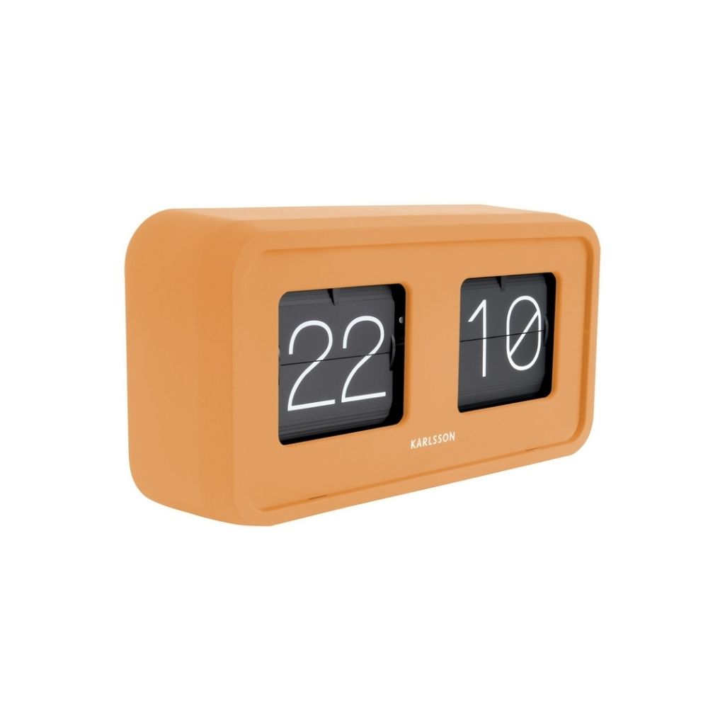 Karlsson Boxed Flip Clock BOLD in yellow from Funky Gifts NZ