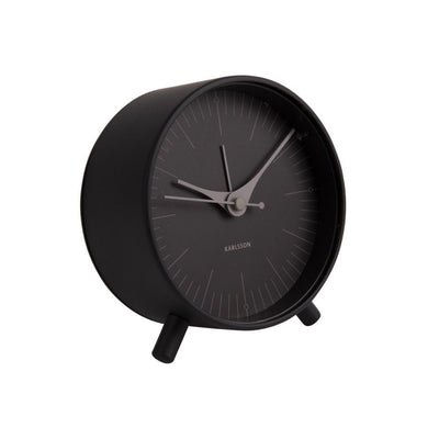 Karlsson Index Alarm clock black from funky gifts nz