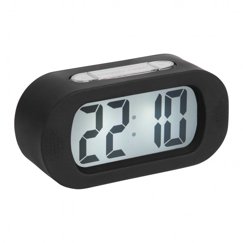 karlsson-gummy-alarm-clock-rubberised-black-funky-gifts