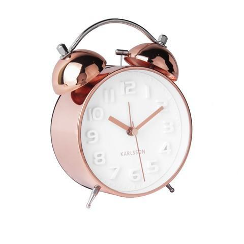 Karlsson Mr White Bell Alarm Clock - Copper