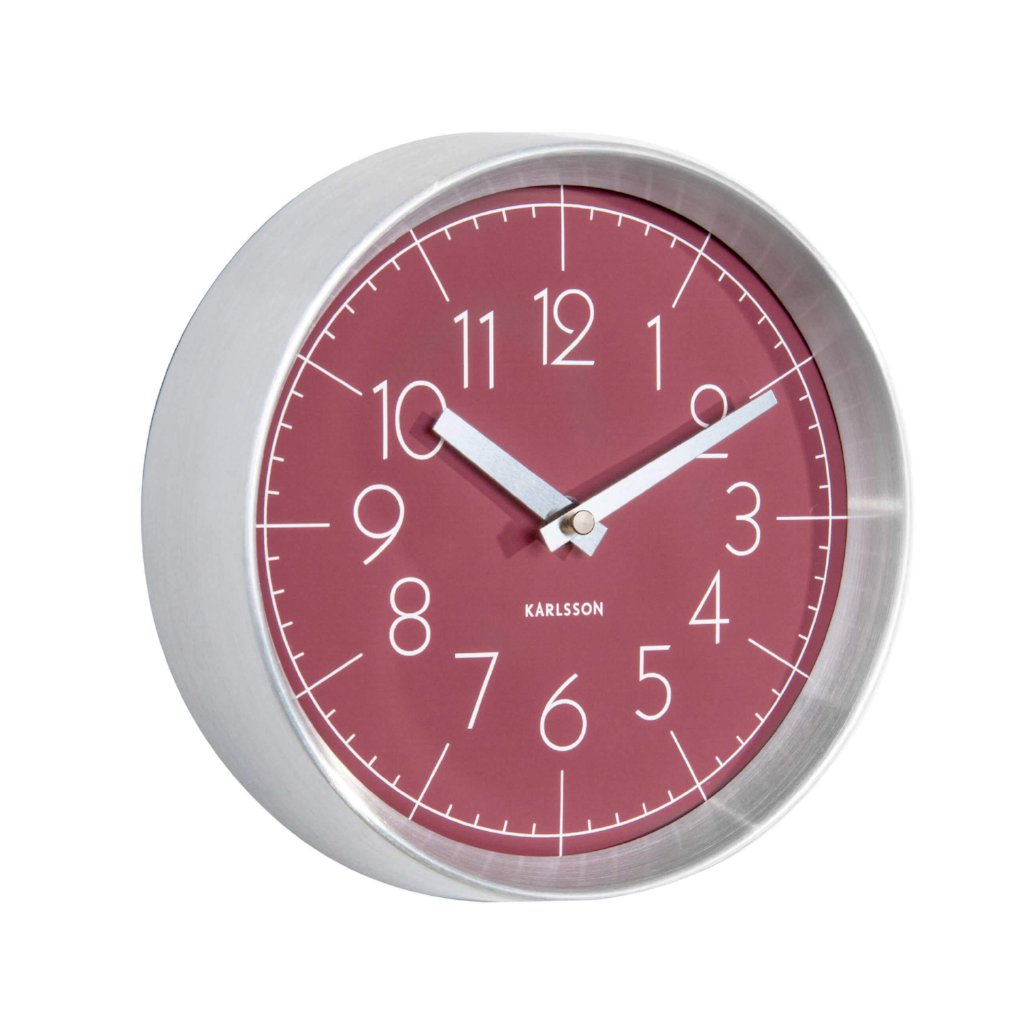 Karlsson Convex Wall Clock Red
