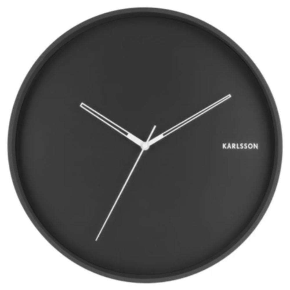 Karlsson Hue Clock Metal Black Funky Gifts New Zealand