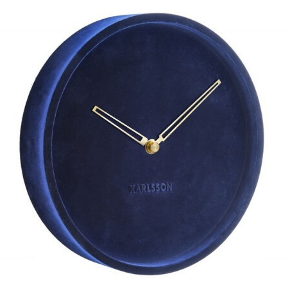Karlsson Wall Clock Lush Velvet - Blue