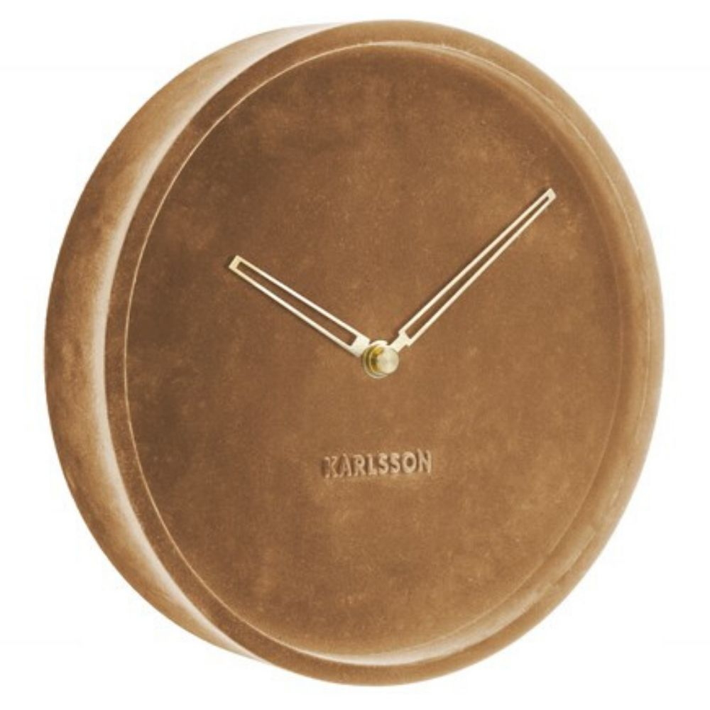 Karlsson Wall Clock Lush Velvet - Brown