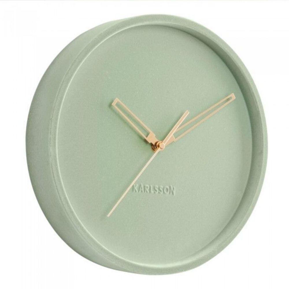 Karlsson Lush Velvet Green Clock