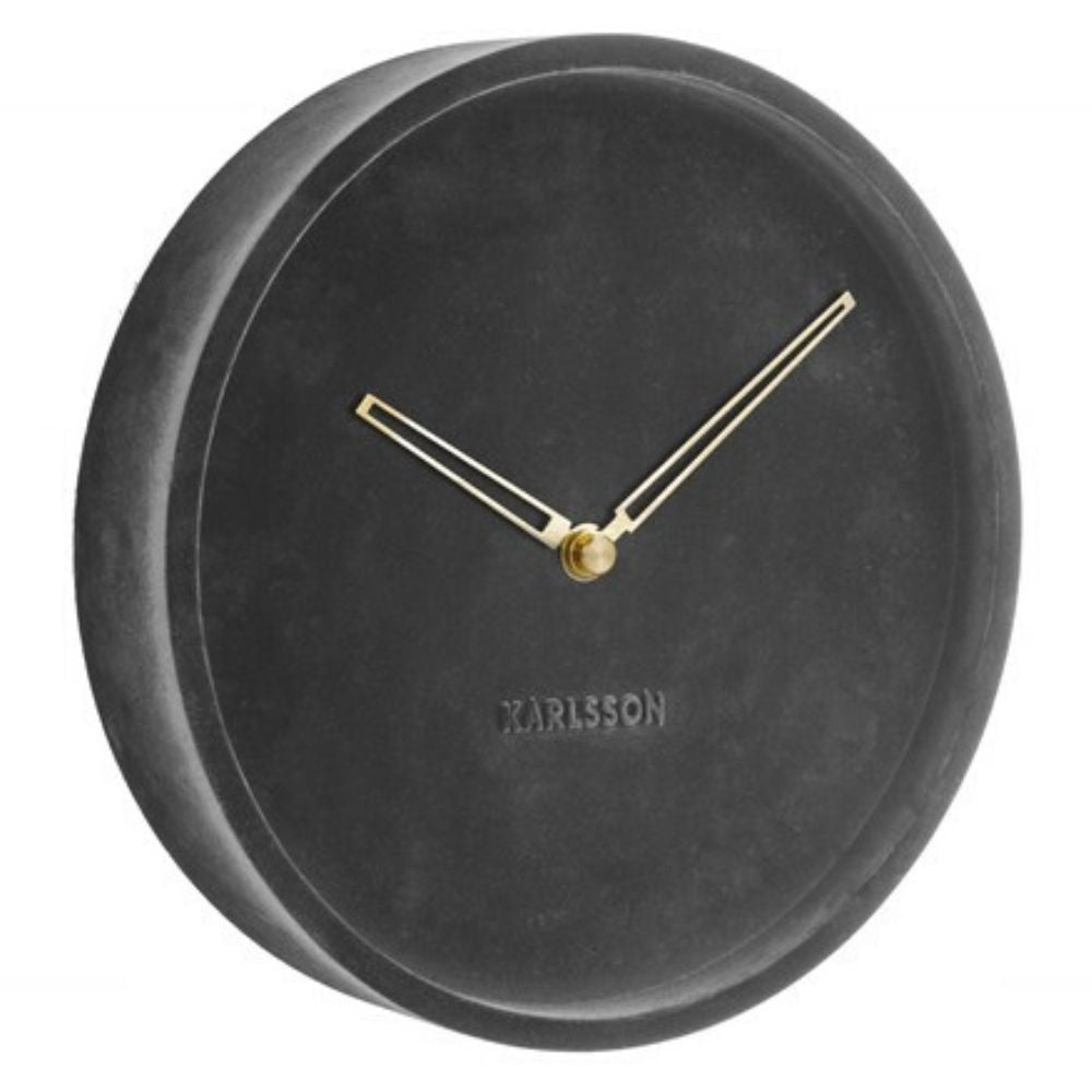 Karlsson Lush Velvet Grey Clock
