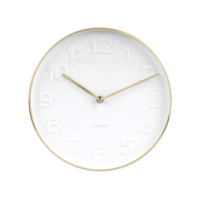 Karlsson Mr White Gold Rim Wall Clock Small