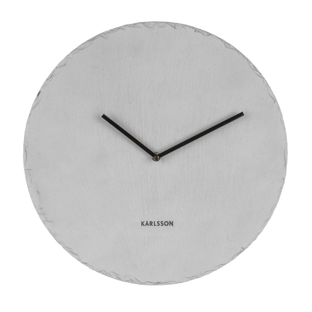 Karlsson Slate Grey Large Clock Funky Gifts