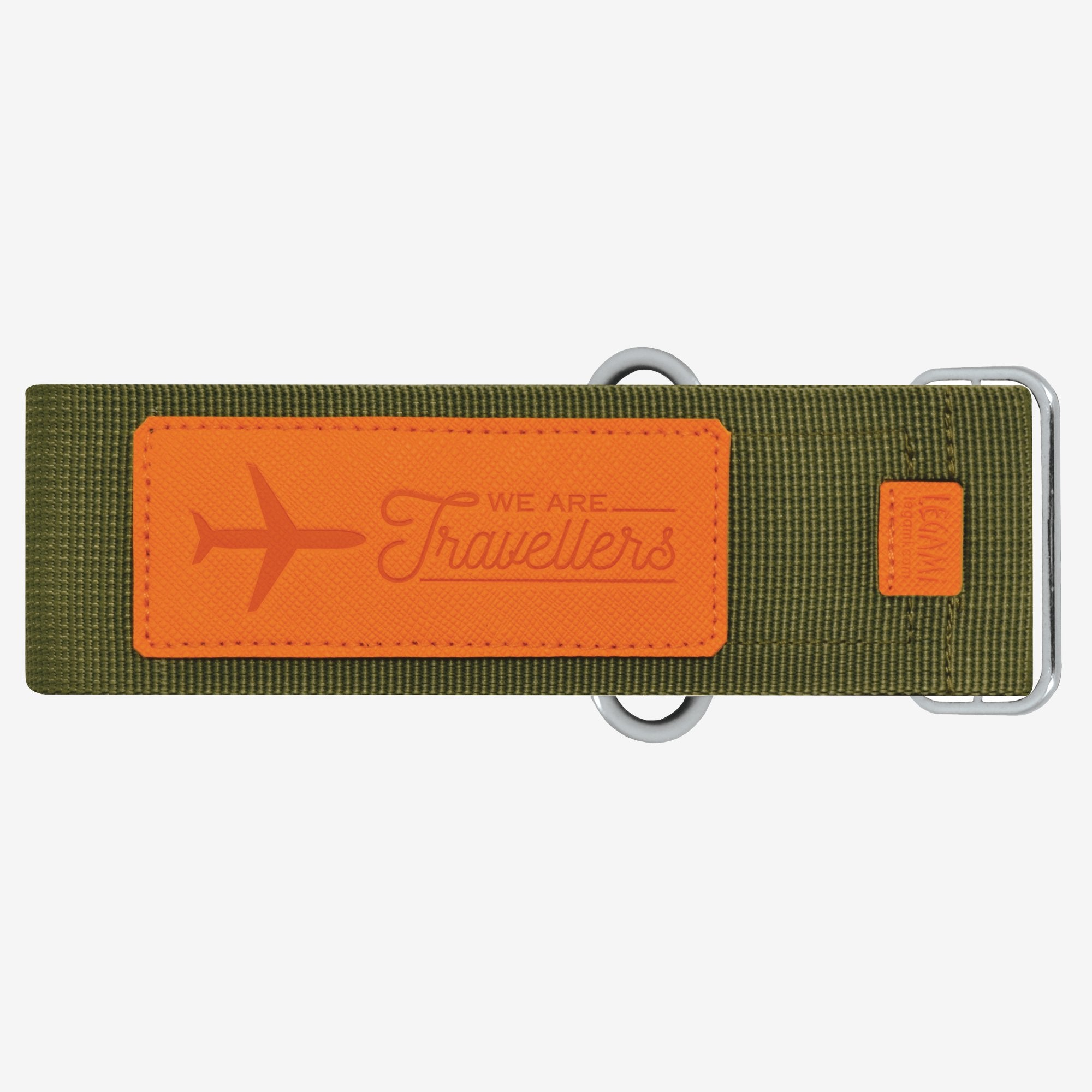 Luggage Strap - Khaki & Orange