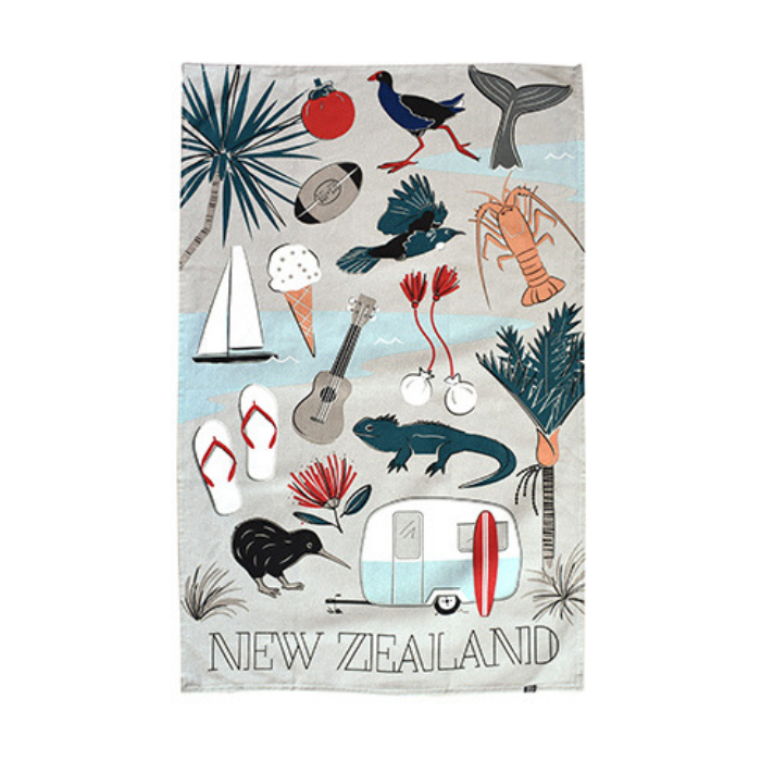 Kiwi Tour - Tea Towel