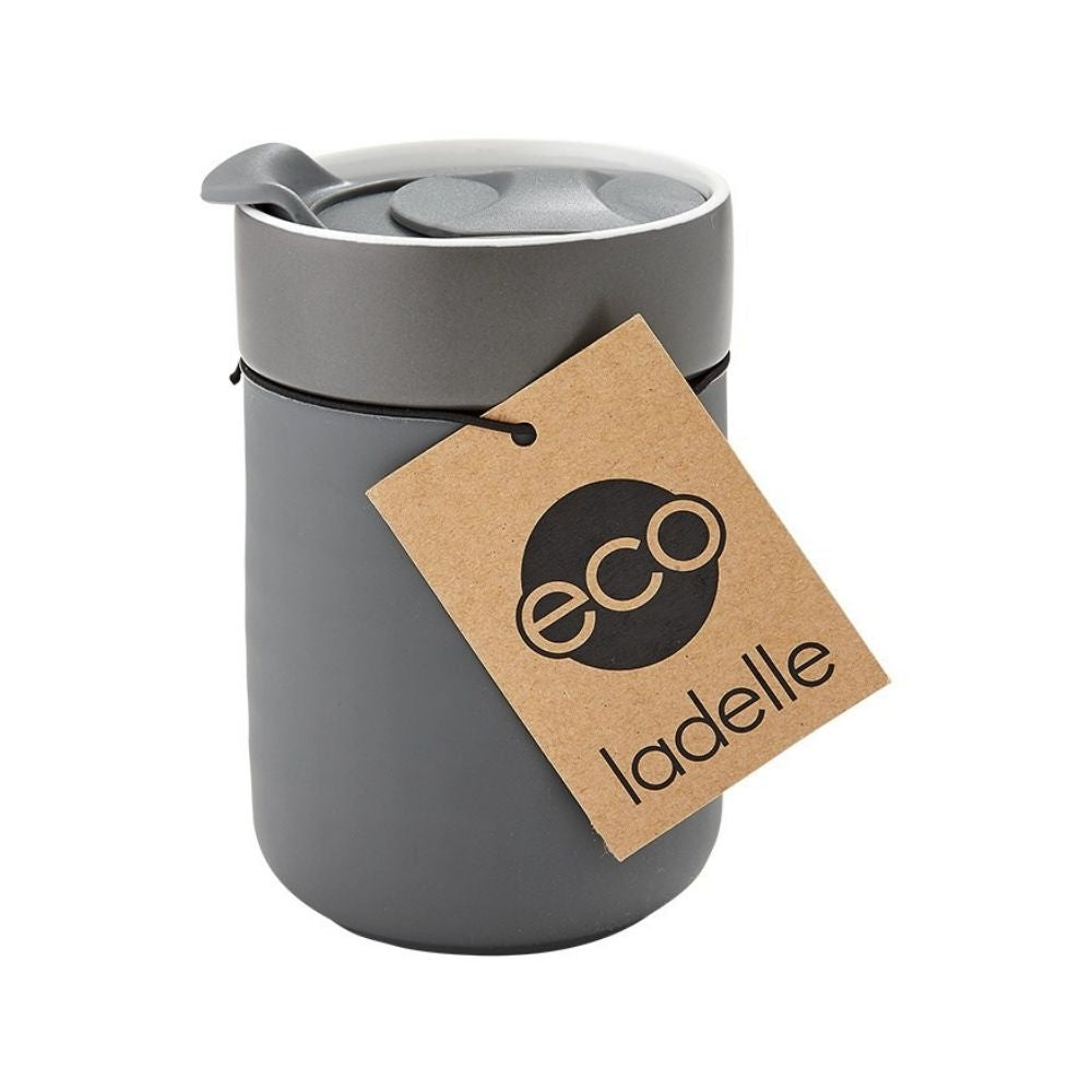 Ladelle Eco Travel Cup Charcoal from funky gifts nz