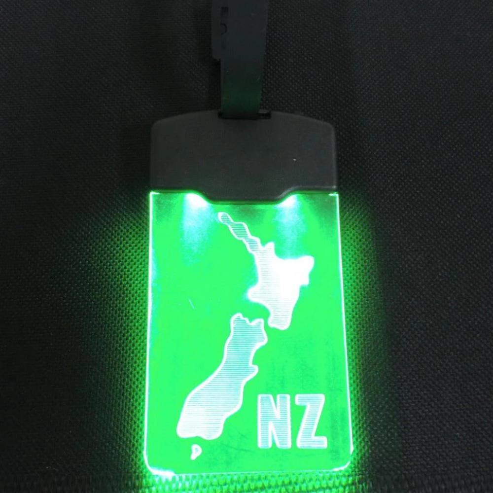 Light Up Luggage Tag - NZ Map LED
