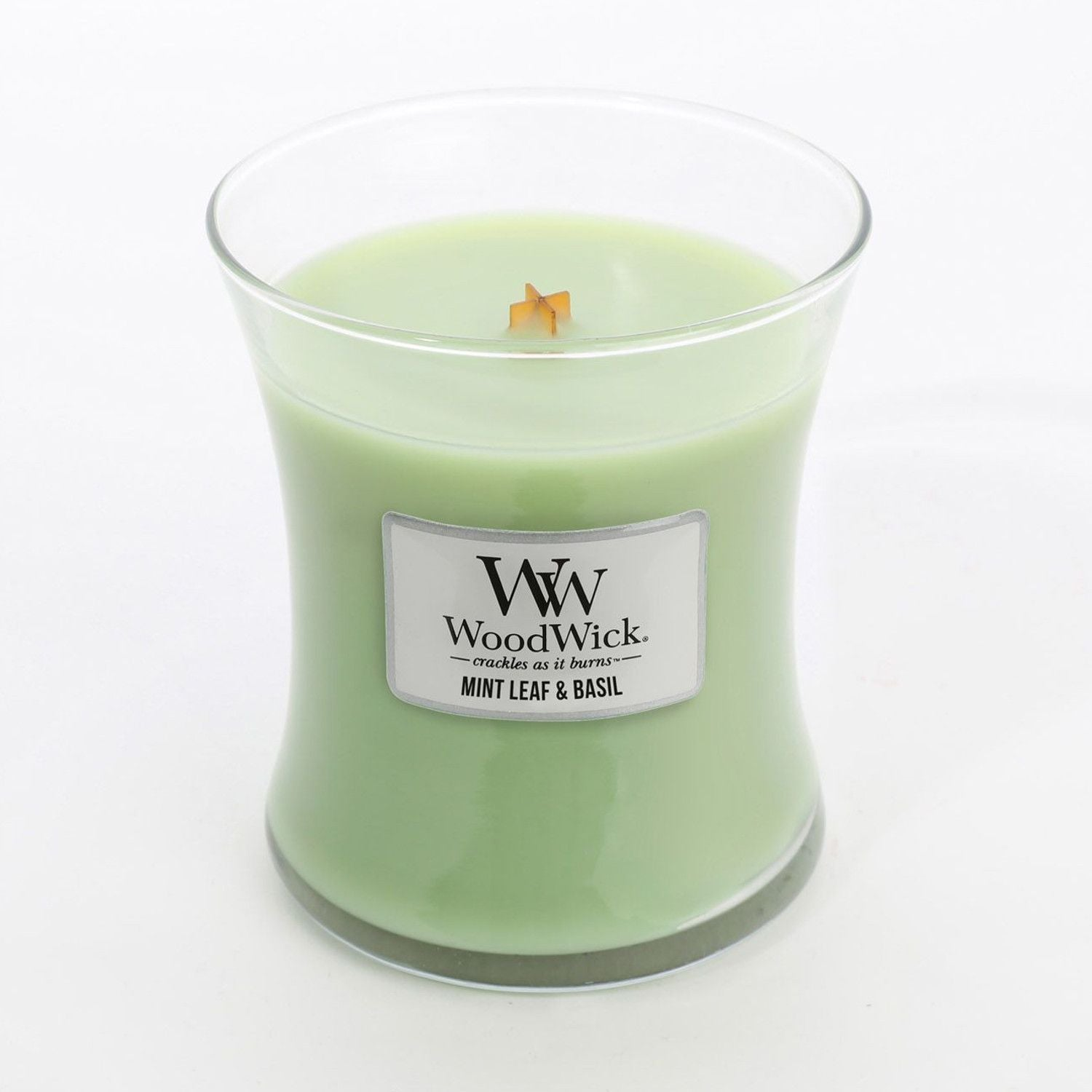 Medium Mint & Basil Scented WoodWick Soy Candle