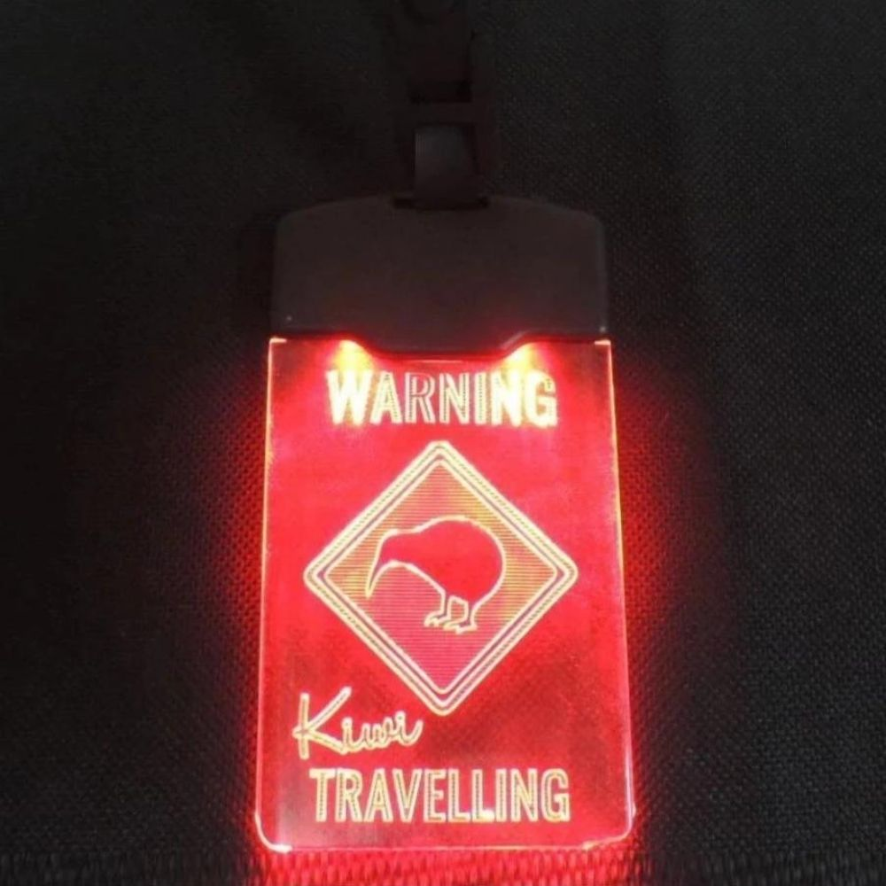 Moana RD light up luggage tag Kiwi travelling from funky gifts nz