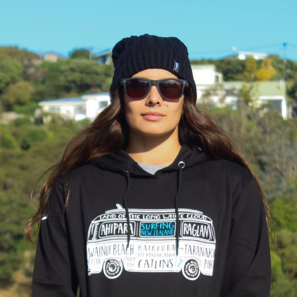 Moana Road Black Hoodie NZ Combi from Funky Gifts NZ