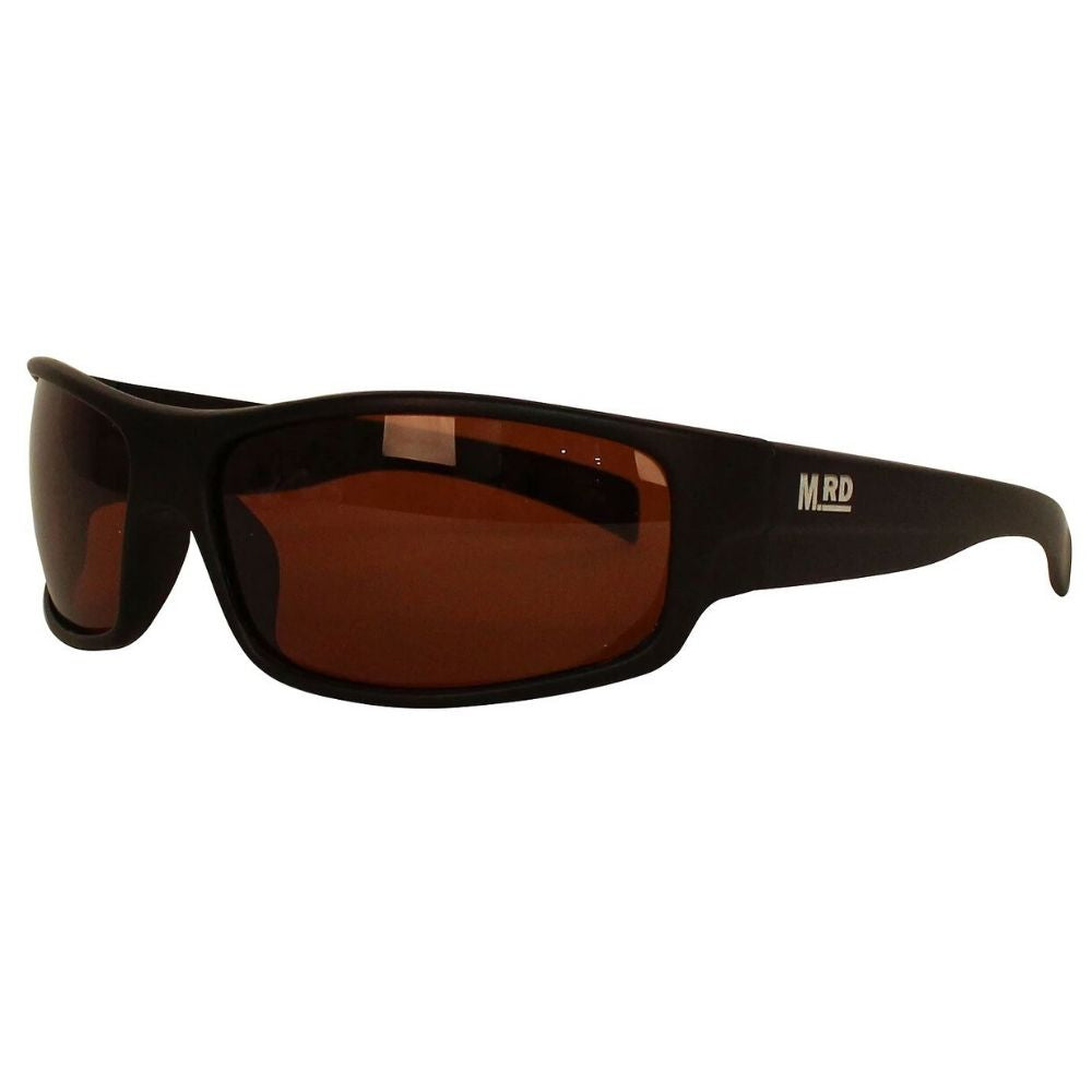 Moana Road Tradies Sunnies Black Frame Brown Lens #611