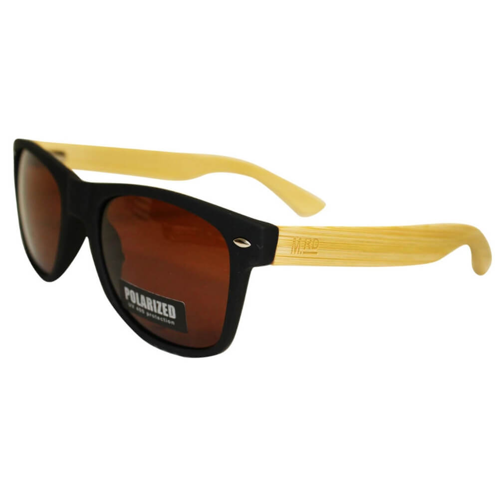 Moana Road Wooden Sunnies Black Frames #467