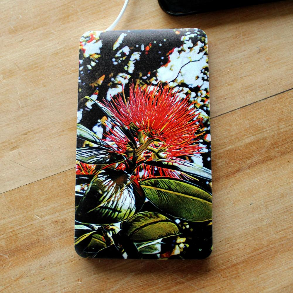 Moana Road 400mah Power Bank Pohutukawa Print