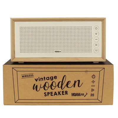Moana Road Wireless Vintage Wooden Speaker Bluetooth Radio Aux