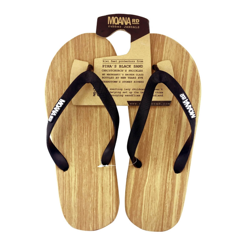 Moana Road Wooden Unisex Rubber Jandals