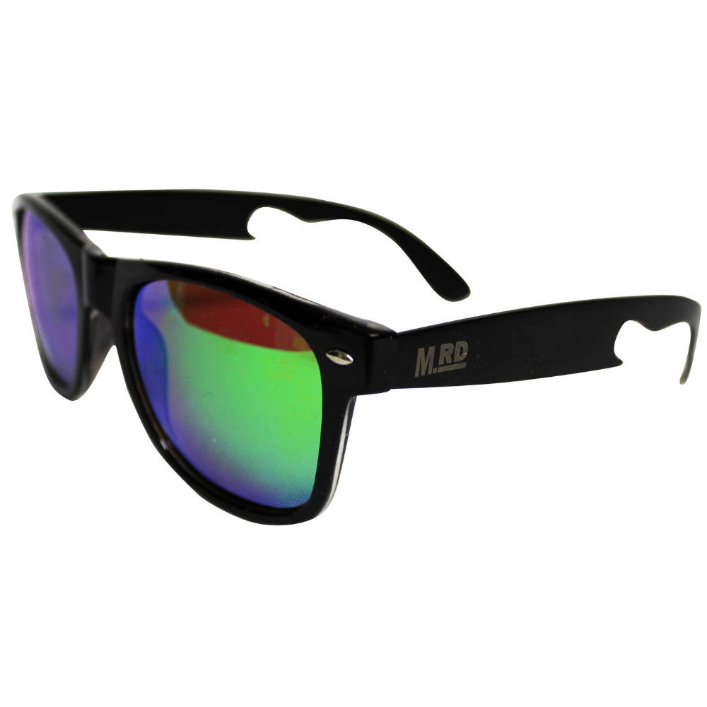 Moana Road Bottle Opening Sunnies Green Reflective Lens