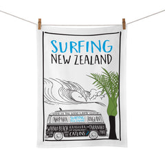 NZ Surfing Tea Towel