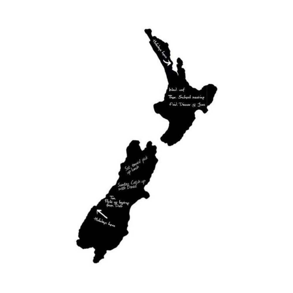 NZ Map Blackboard - Large Kiwiana Chalkboard