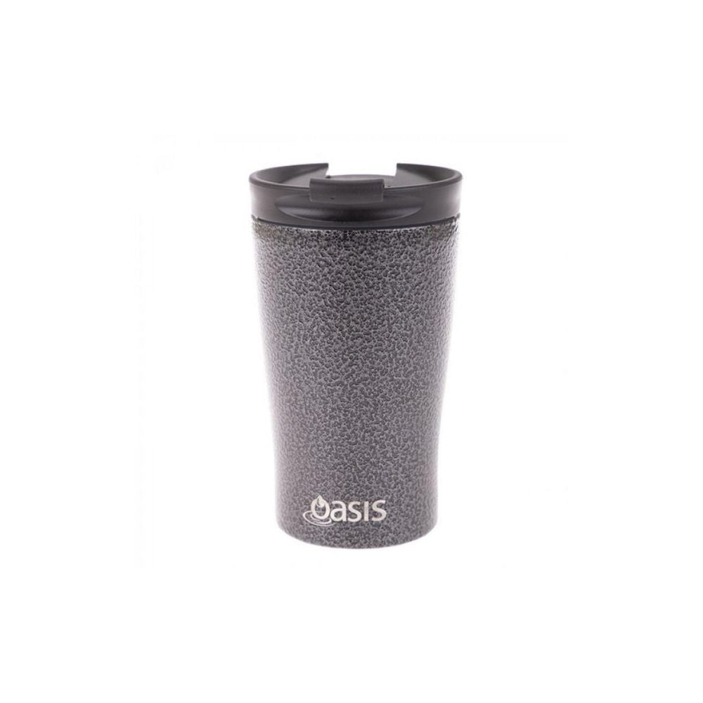 Oasis Hammertone Grey Travel Mug from Funky Gifts NZ