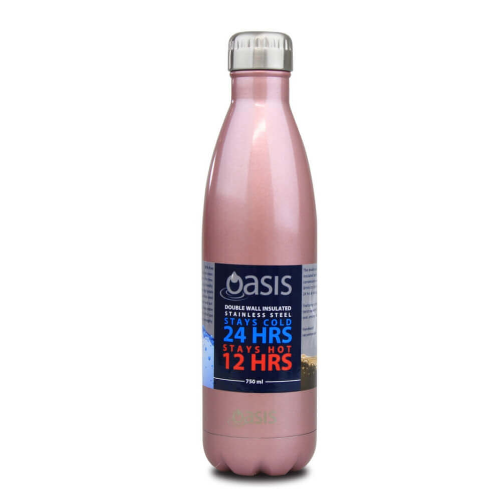 Oasis Stainless Steel Bottle 750ml - Blush