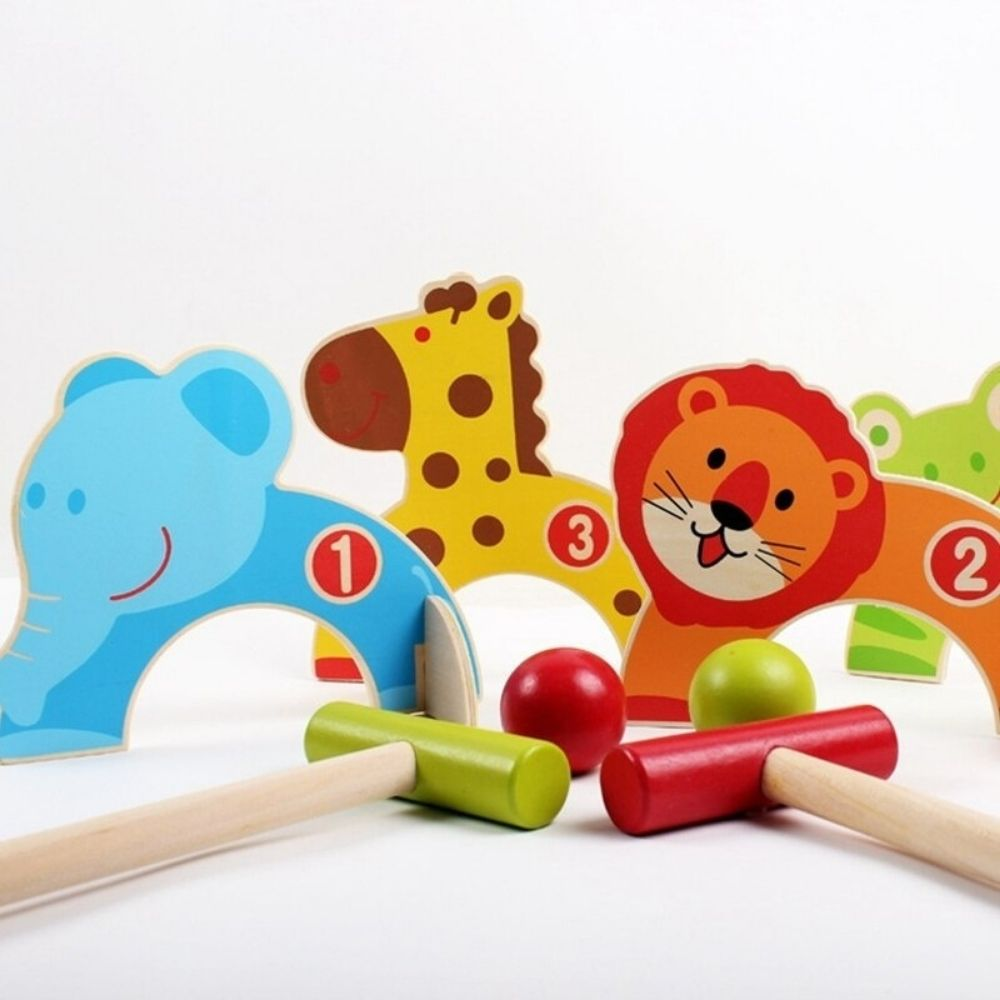Animal Croquet Wooden Game From Funky Gifts NZ