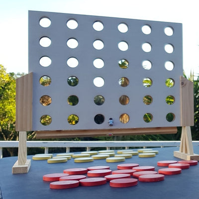 Outdoor 4 in a row Wooden Game from Funky Gifts NZ