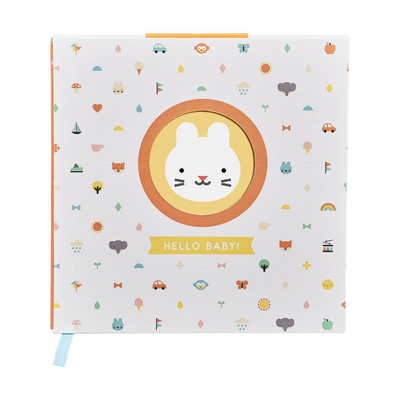 Hello Baby Hard-back Baby Journal from Funky Gifts NZ
