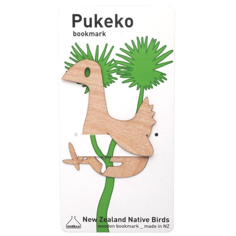 Wooden Pukeko Bookmark