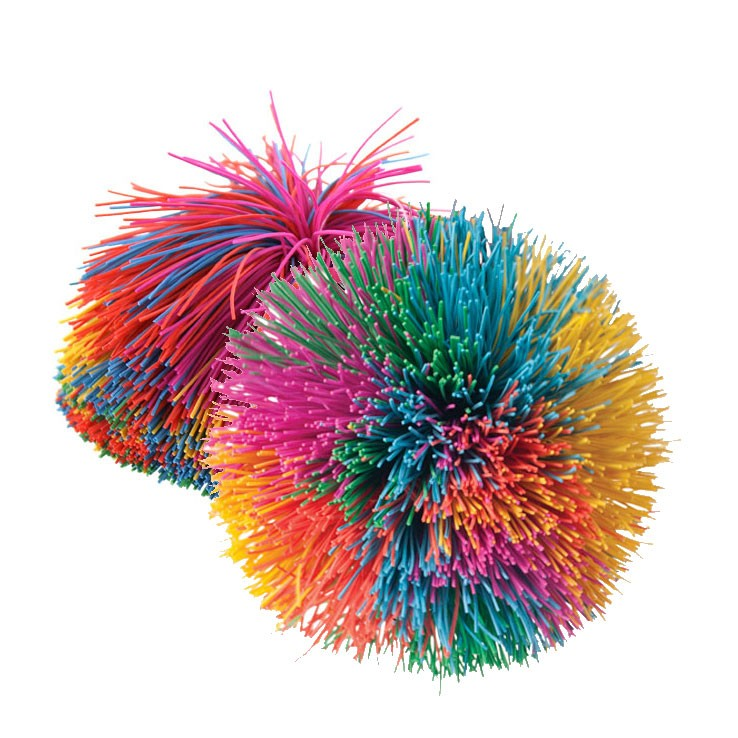 Rainbow Pom Ball - Koosh Ball