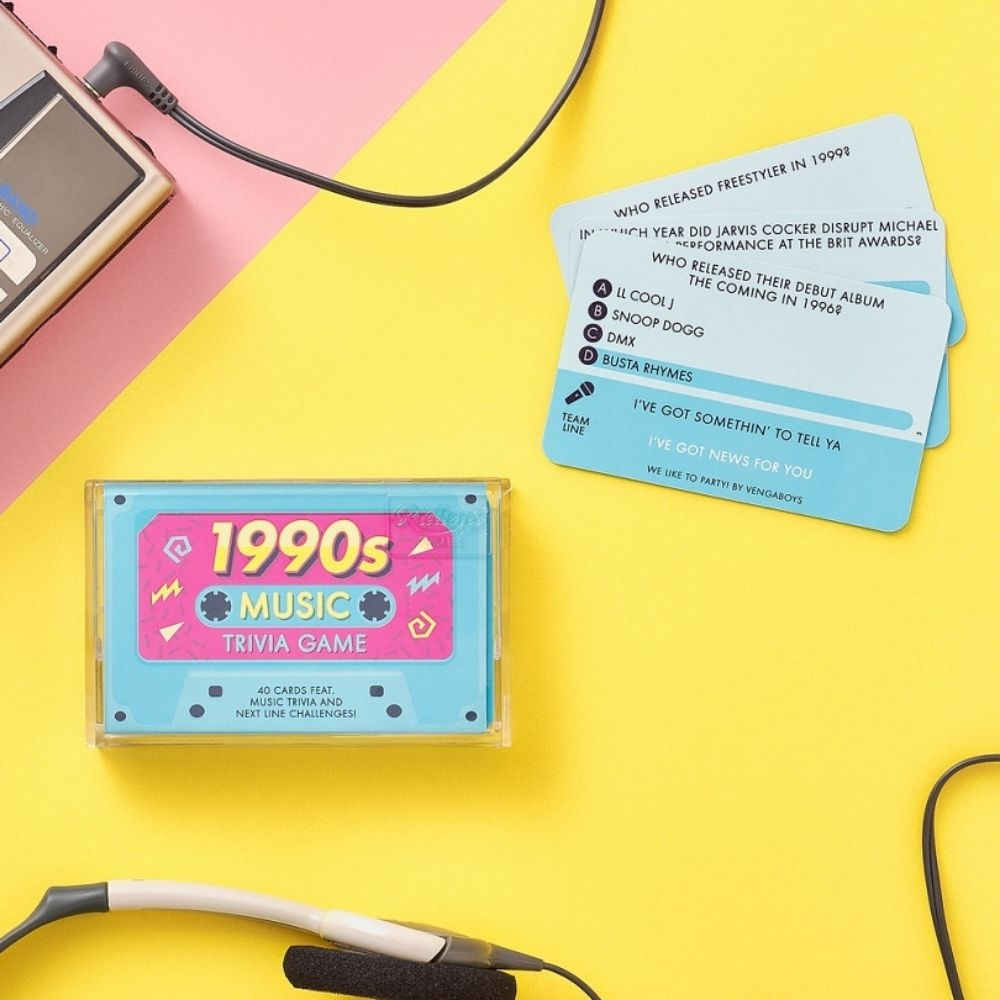 Ridleys 90s Music Trivia Game Cassette from Funky Gifts NZ